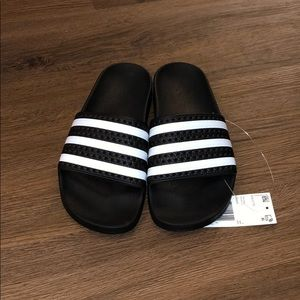 Adidas Adilette Slides Women Black and White